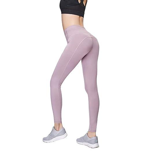 AidShunn Pantalón Deportivo de Deportivas Mujer Leggins Bolsillo Interno Yoga para Pilates Fitness
