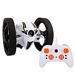 Leegor RH803 2.4Ghz RC Wireless Remote Control Bounce Cars Toys Shock Resistance Flexible Wheels Jumping Stunt Auto Birthday Present