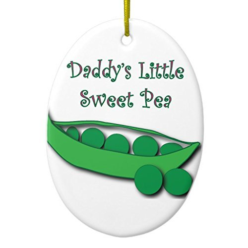 Xmas Tree Decorations Daddy's Little Sweet Pea Ornament Oval Ornament Crafts for Kids Home Christmas Decorative Sweet Pea Ornament