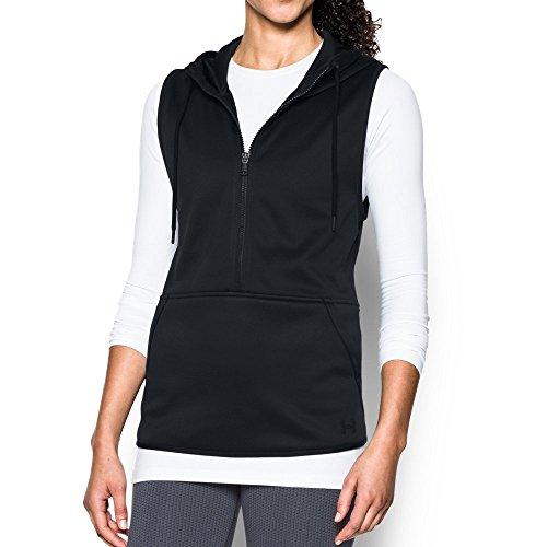Under Armour Women's Storm Lightweight Armour Fleece Vest, Black/Black, Small