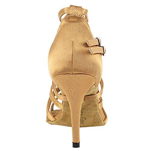 Chaussures De Pigeon Or 50 Nuances De Chaussures De Danse Tan Collection-iii, Pompes De Mariage De Soirée De Confort, Chaussures De Salon Pour Latin, Tango, Salsa, Swing, Art De Theather Par 50 Nuances (500, 3, 3.5 Talons) 5008 Satin Marron