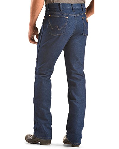 Wrangler Men's Western 5 Pocket Traditional Boot Cut Slim Jean,Indigo (Cowboy Stretch Jeans)