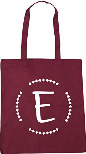 Bag E Burgundy Shopping 42cm Gym x38cm 10 Initial litres Beach HippoWarehouse Tote Ywa4w1