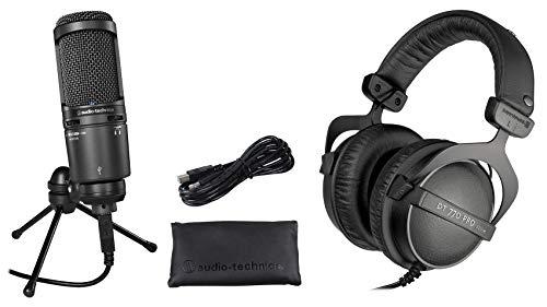 Audio Technica AT2020USB+ Plus Recording Mic+Beyerdynamic DT-770 Headphones