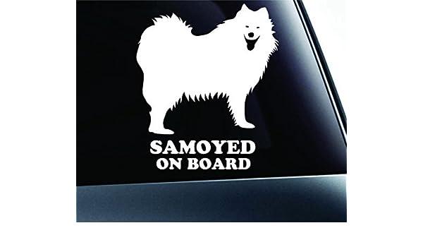 I Love My SamoyedHigh Quality Vinyl Dog Window Decal Sticker
