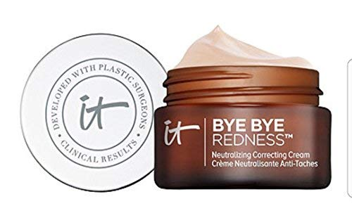 It Cosmetics Bye Bye Redness Neutralizing Correcting Cream (Light Beige) 0.37 fl oz (Best Drugstore Concealer 2019)