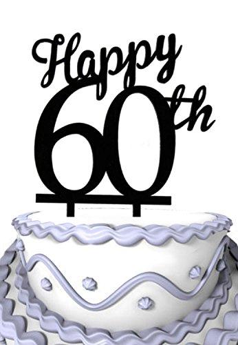 Meijiafei 60th Birthday Anniversary Cake Topper Amazoncouk Kitchen Home