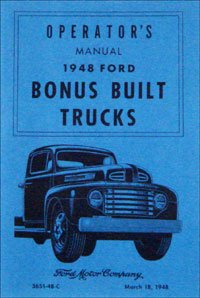 1948 Ford Truck Owners Manual 48 (with Decal)