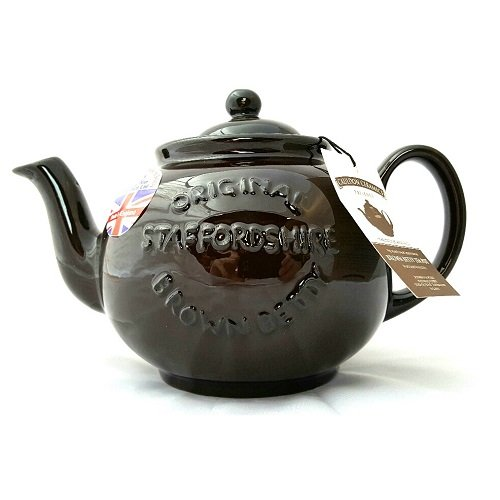 Cauldon Ceramics Brown Betty 8 Cup Teapot with Logo