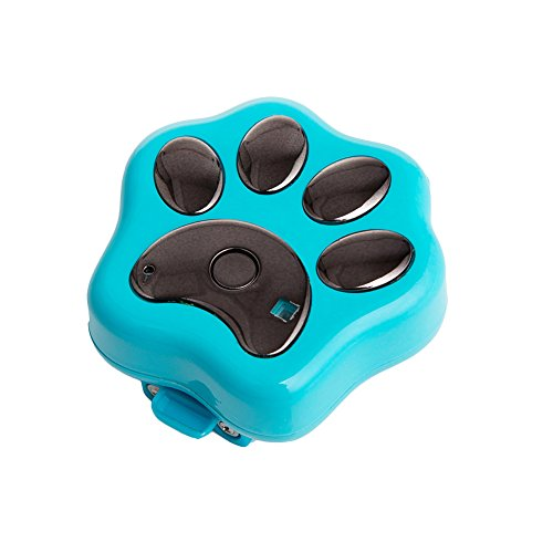 - Per Pet GPS Tracker 3G Waterproof Positioning Locator With Light Anti-Lost Prevent Wander For Cats Dogs Rabbits Wireless Charging With Magnet Charging Cable-Blue