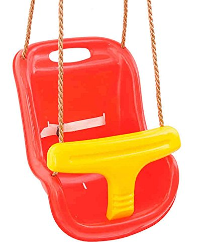 POCO-DIVO-Toddler-Swing-Seat-T-Bar-Infant-Swing-Set-IndoorOutdoor-Backyard-Kids-Fun-Red-Seat
