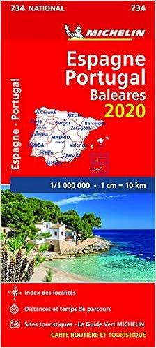 Carte Espagne - Portugal (Michelin)