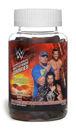 WWE Children's Championship Title Belt Multi-Vitamin Gummies (70ct) Raspberry
