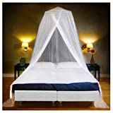 Luxury Mosquito Net Bed Canopy, Ultra Large: for Single To King Size, Quick Easy Installation, Finest Holes: Mesh 380, Curtain Netting, 2 Entries, Storage Bag, No Chemicals Added, 500