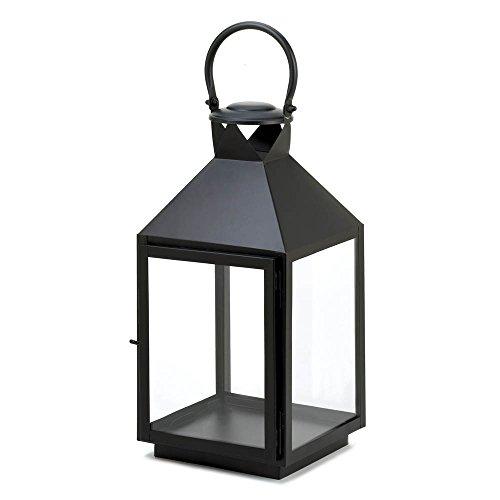Large Classic Black Candle Lantern (Garden Lanterns For Candles)