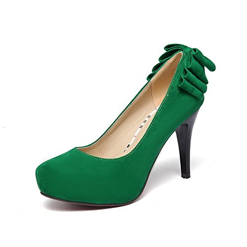 Balamasa Dames Solide Pull-on Frosted Pumps-schoenen Groen