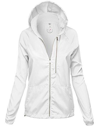 Water Resistant Vertical Pocket Rain Jackets, 116 - White, US M, 116 - White, Medium