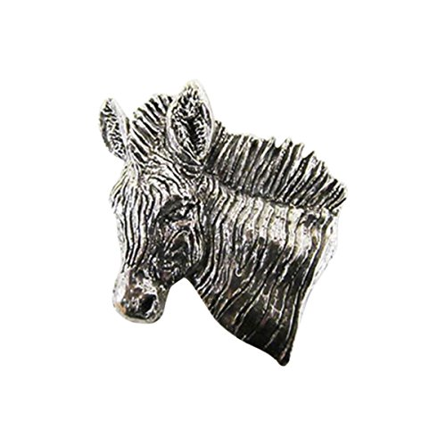 Premium Zebra Head ~ Lapel Pin/Brooch ~ CWG-M113PR ~ Pewter