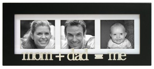 Mom+Dad=Me Wood Matted Collage Picture Frame