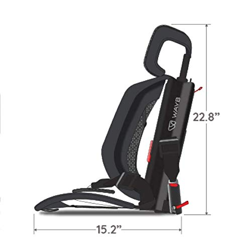 418vmOwWqEL - WAYB Pico Travel Car Seat, Black | Portable And Foldable | Forward-Facing Convertible Car Seat | Toddler Car Seat | 5-Point Harness | Everyday, Carpool, Rideshare And Airplane