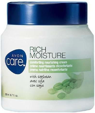 Avon Care Rich Moisture Comforting Nourishing Cream with soybean 6.7 Fl Oz