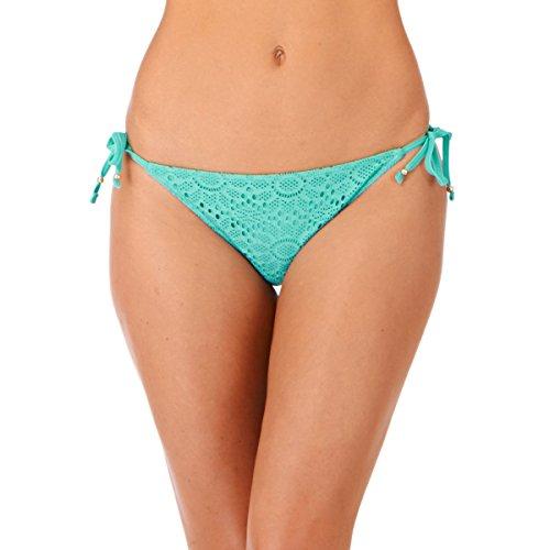 Verano Crochet corbata Lepel lateral Bikini - Aqua agua