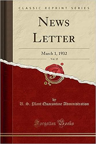 News Letter, Vol. 15: March 1, 1932 (Classic Reprint): U. S. ...