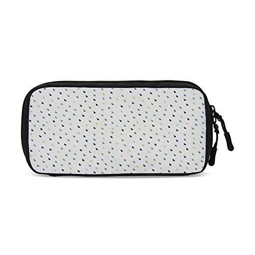 (Home Decor Practical Data Storage Bag,Saturated Spherical Teardrop Shaped Rain Water Droplets Particles Design Fusion Image for Organizing Cables,One Size)