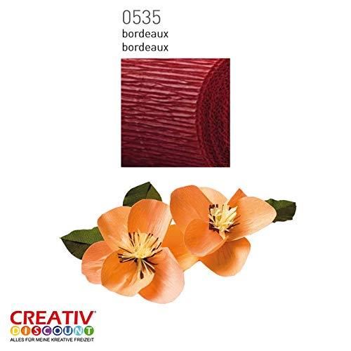 Bordeaux CREATIV DISCOUNT/® NEU Floristen Krepp-Papier 5er Pack