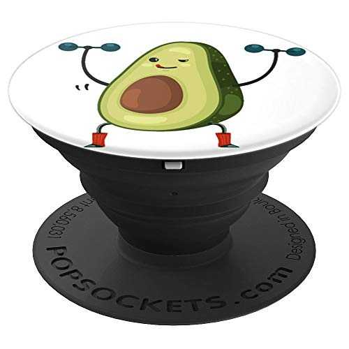 Avocado Emoji - Weightlifting Gym Fitness Vegan PopSockets Grip and Stand for Phones and Tablets