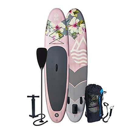 b068fabcb7df Inflatable Stand Up Paddle Board - Blow Up SUP Paddleboard Kit with Oar,  Pump,