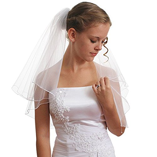 Beauty Bridal Tulle Sheer Short Wedding Bridal Veils for Bride