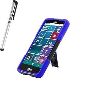 for LG Lancet Hybrid Y Stand Cover Case Stylus Pen ApexGears (TM) Black Blue