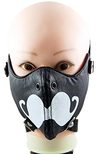 Qiu ping Men's and women's show rivet rock mask personality motorcycle mask by Qiu ping