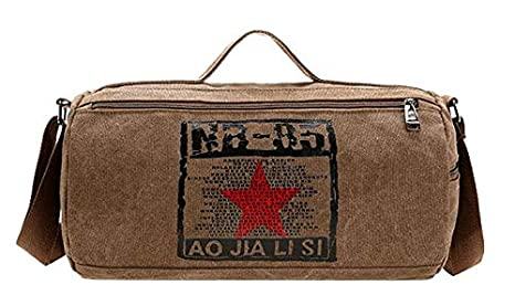 Image Unavailable. Image not available for. Color  Canvas Sport Bag  Training Gym Bag Men Woman Fitness ... a9389a5006