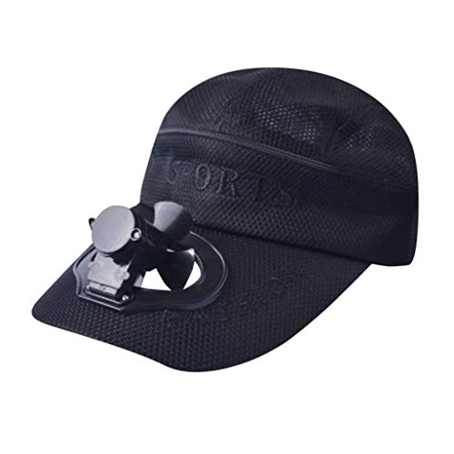 TIFENNY 2019 New Fan Cap Summer Fan Cooling Baseball Cap Hat USB Charging Breathable Shade Sunscreen Hat Black]()