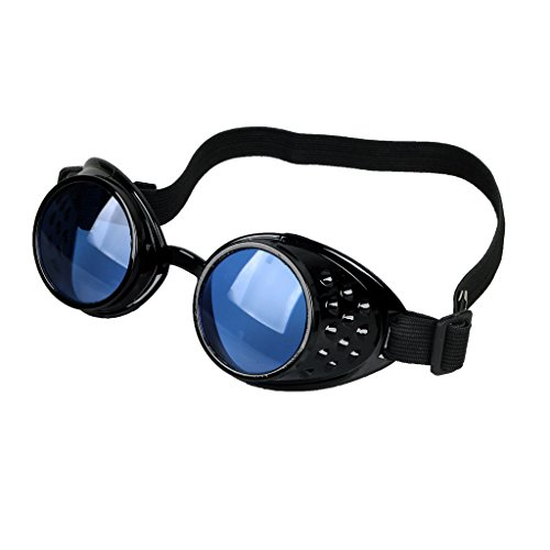 Careonline Retro Vintage STEAMPUNK GOGGLES Glasses Punk Goth Colorful Lens COSPLAY PARTY (Cosplay Steampunk Costumes)