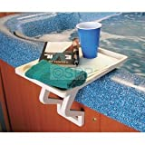 hot tub stuff - Aqua Tray Mate Spa Table - Bone