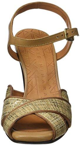 Chie Mihara Adesi - Sandalias de tobillo Mujer Beige (Piano Cuero-Tailu Tan)