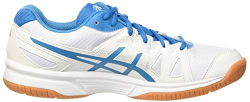 Homme Volleyball Asics Blanc Chaussures white Upcourt De Jewel blue white wIIqARv