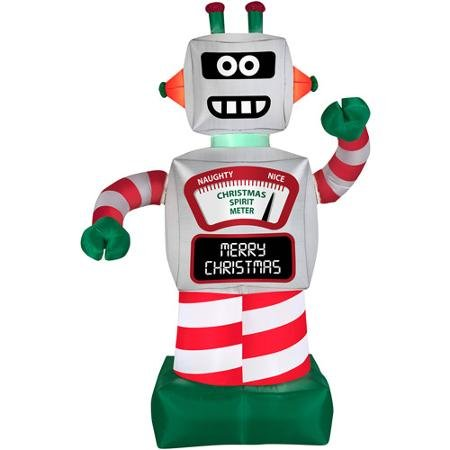 Amazon.com: 6' Animated Robot Airblown Inflatable Christmas Prop ...