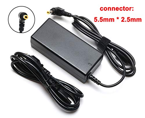 (19V 3.42A 65W AC Adapter Charger Replacement for Toshiba Satellite C55 C55D C655 C70 C855 C850 L655 L755 L745 S55; Toshiba Portege Z30 Z830 Z930; Satellite Radius 11 14 15 Laptop Power Supply Cord)