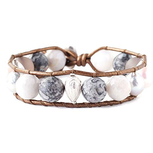 (Chan Luu Grey Mix Freshwater Cultured Pearl Single Wrap Bracelet)