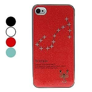 Procesamiento de dos días -Caja helada scorpio constelación patrón duro para el iPhone 4/4S (colores surtidos),Blue