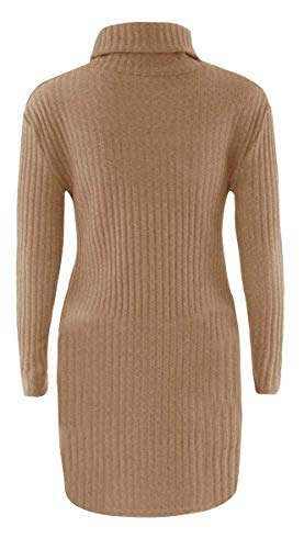 Caldo Colore Slim A Maglieria Moda Puro Maglione Autunno Invernali Manica Termico Pullover Collo Vintage Donna Felpe Casual Alto Maglioni Elegante Lunga UwUTYS