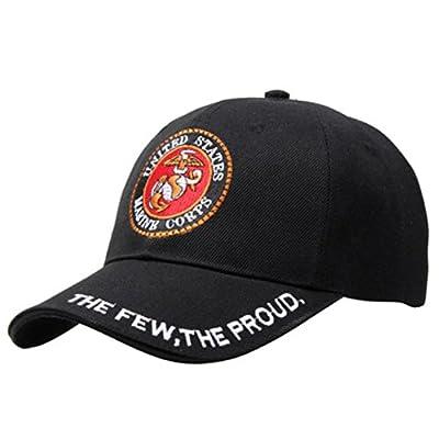 JSHG JDJG The Few The Proud The Marines USMC Marine Unisex Embroidery Baseball Cap Adjustable Hat Military Caps
