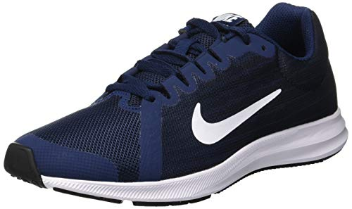 White NIKE Navy Sneakers 8 001 Bleu Basses Dark Homme Obsidian Downshifter GS Midnight Black 8zpxwq8r6