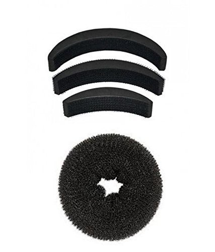 Blackbond Pack of 1 medium size hair donut + set of 3 hair puff high volumizer banana bumpits product image
