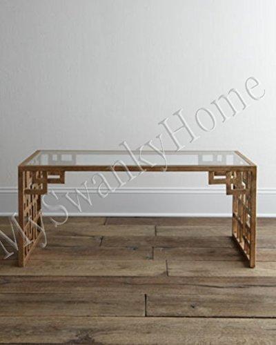 Fretwork Coffee Table.Amazon Com Intelligent Design Contemporary Asian Fretwork Coffee
