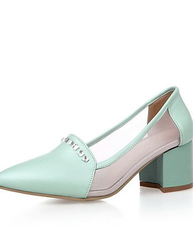 ... GGX/Damen Kitten Heels Weiches Material massiv Pull auf Spitz  geschlossen Zehen pumps-shoes ...